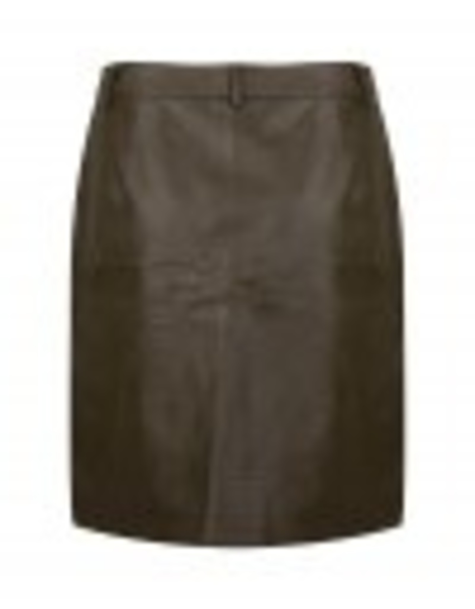 ydence Mini skirt, faux leather, army kleur! Super stoer!