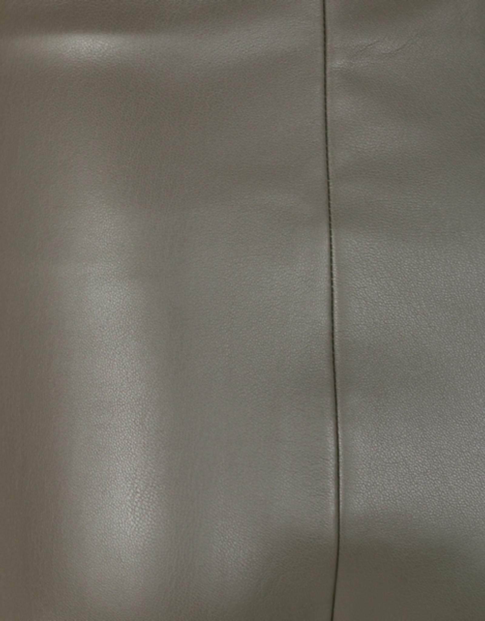 Free/quent Super comfortabele broek - imitatieleder - kleur: kaki/grijs/bruin