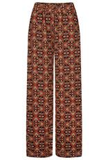 ydence Leuke broek met brede pijpen - tof warm kleur en de print is heel speciaal