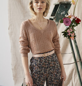 Knitted Sweater, cropped! Soft Pink