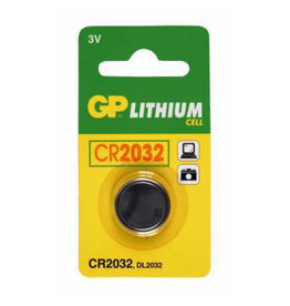 GP KNOOPCEL CR2032  LITHIUM 3V