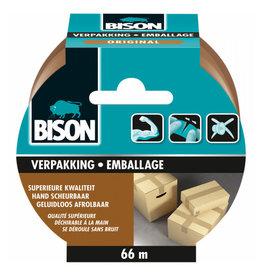 BISON BISON VERPAKKINGSTAPE BRUIN 66MX50MM