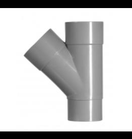 PVC T-STUK 2XLIJM 125X125 45GR