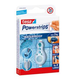 TESA TESA POWERSTRIPS WATERPROOF STRIPS LARGE WIT 6 ST