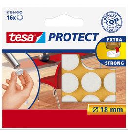 TESA Tesa protect vilt wit Ø 18 mm 16 stuks