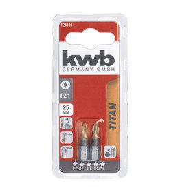 KWB KWB Titaan bits PZ1 25mm kaart 2 stuks