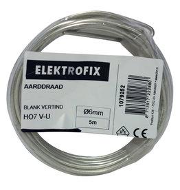 ELECTROFIX aarddraad 6 mm² blank vertind 5 m