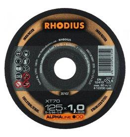 RHODIUS DOORSLIJPSCH. 125MMX1.0 MM 1 STUKS