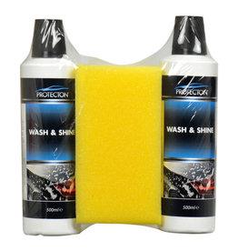 PROTECTION Protecton Wash & shine 2x 500 ml + spons
