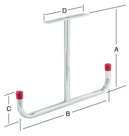 Plafondhaak-T verzinkt 293 x 430 x 95 x 180 mm