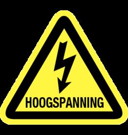 AAM HOOGSPANNING BORD 3-HOEK  8CM