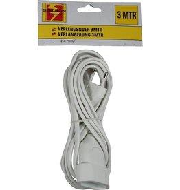 BELLSON VERLENGSNOER 3.0 MTR PLAT 2X0.75 2300 watt