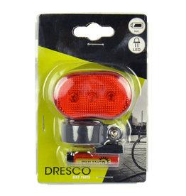 DRESCO DRESCO ACHTERLICHT 3 LED'S OP BATTERIJ BL