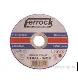 FERROCK DOORSLIJP.FERROCK 115X1.0 INOX