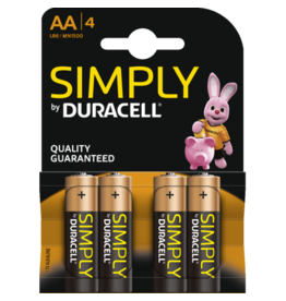 DURACELL DURACELL AA 4 PACK SIMPLY