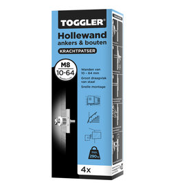 TOGGLER Toggler hollewandanker M8 4 stuks