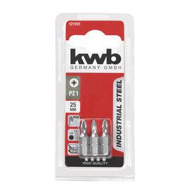 KWB KWB Industrial Steel schroefbits PZ1 25mm kaart 3 stuks