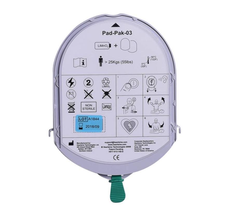 HeartSine 2-in-1 batterij & elektroden