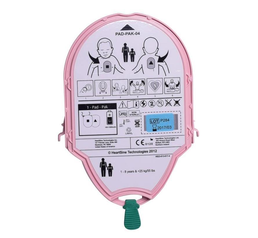 HeartSine 2-in-1 batterij & elektroden kinderen