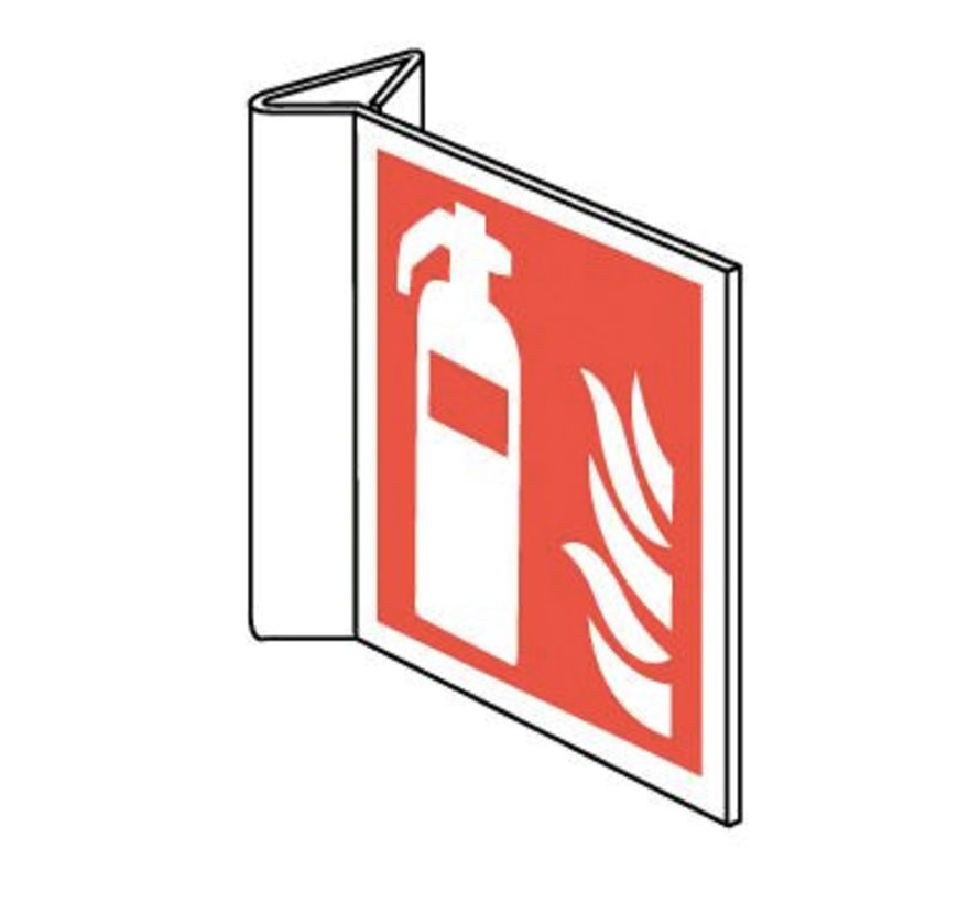 Brandblusser pictogram (haaks)
