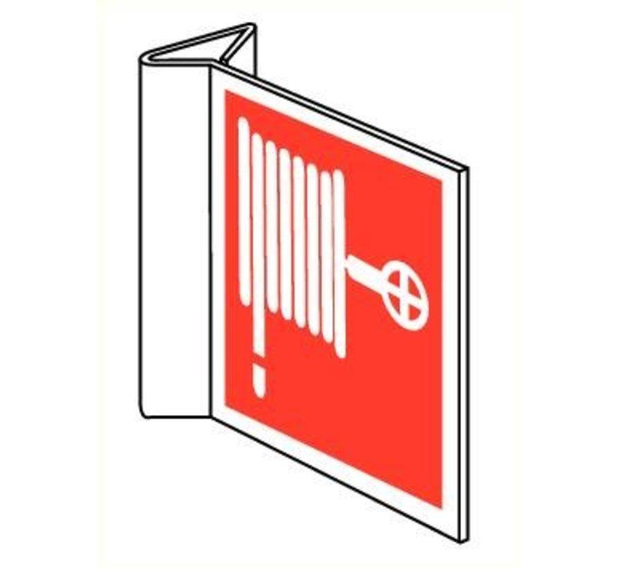Brandslanghaspel pictogram (haaks)