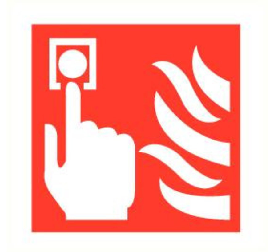 Handbrandmelder pictogram
