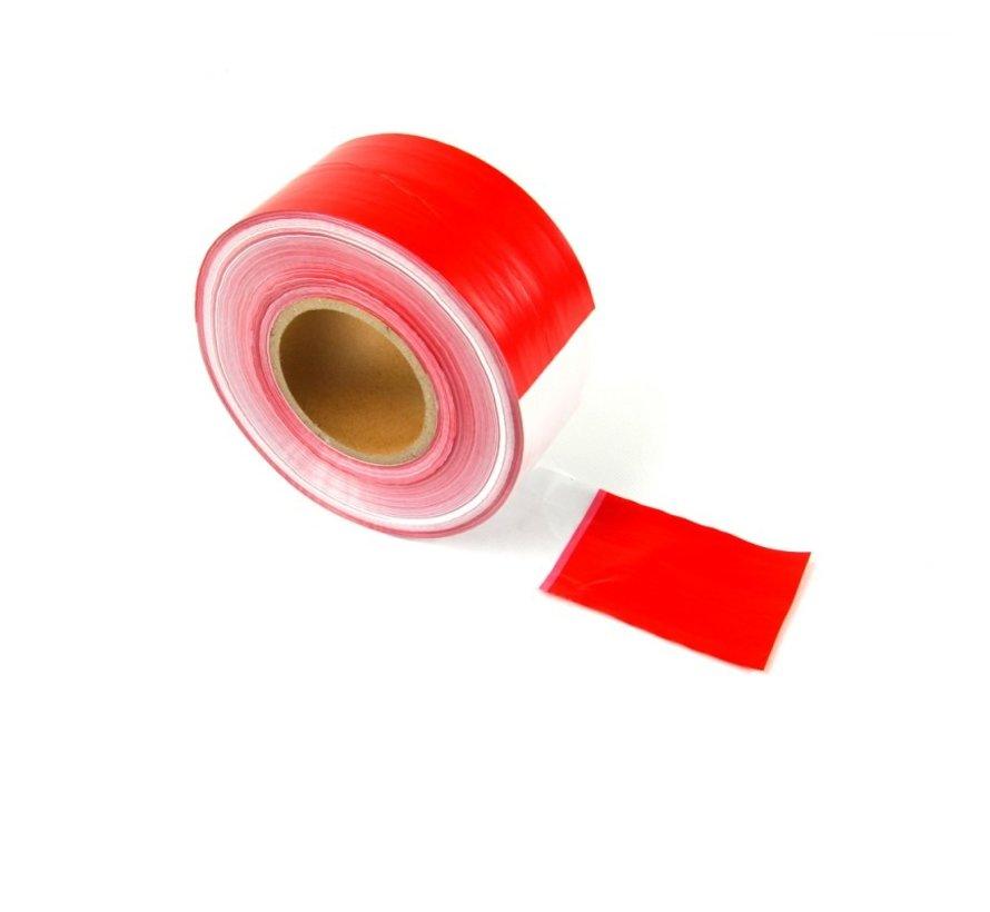 Afzetlint rood/wit 500 m.
