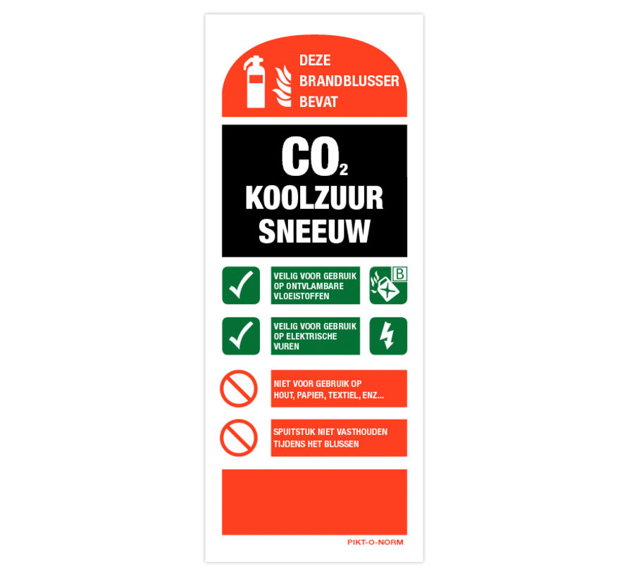 Gebuiksaanwijzing CO2 blusser