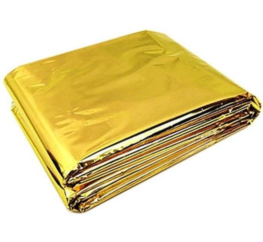 Reddingsdeken/isolatiedeken goud/zilver