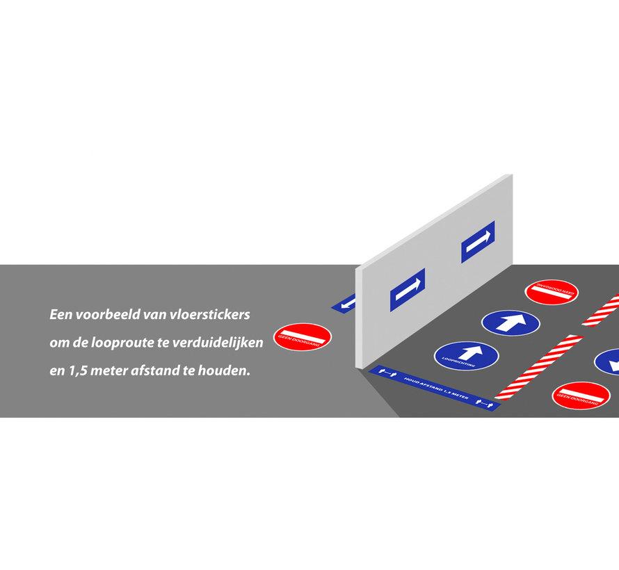 Vloersticker richtingspijl 30x10 cm