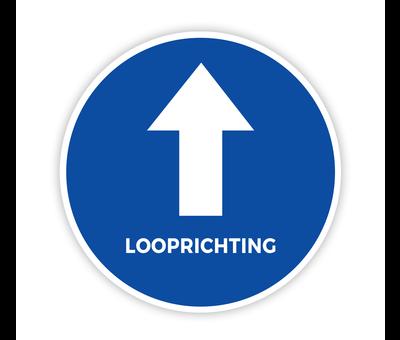 Vloersticker looprichting met pijl Ø20 cm