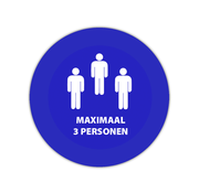 Maximaal 3 personen sticker