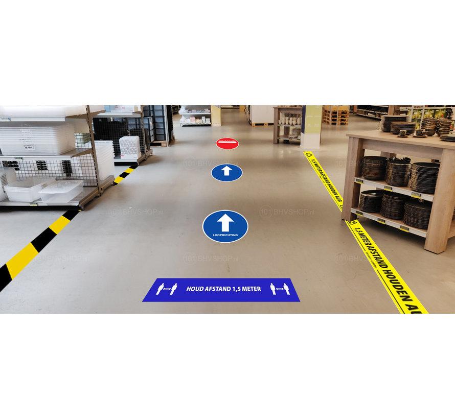 Houd 1,5 meter afstand tape