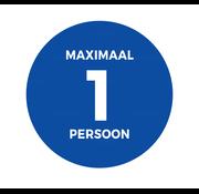 Maximaal aantal personen sticker