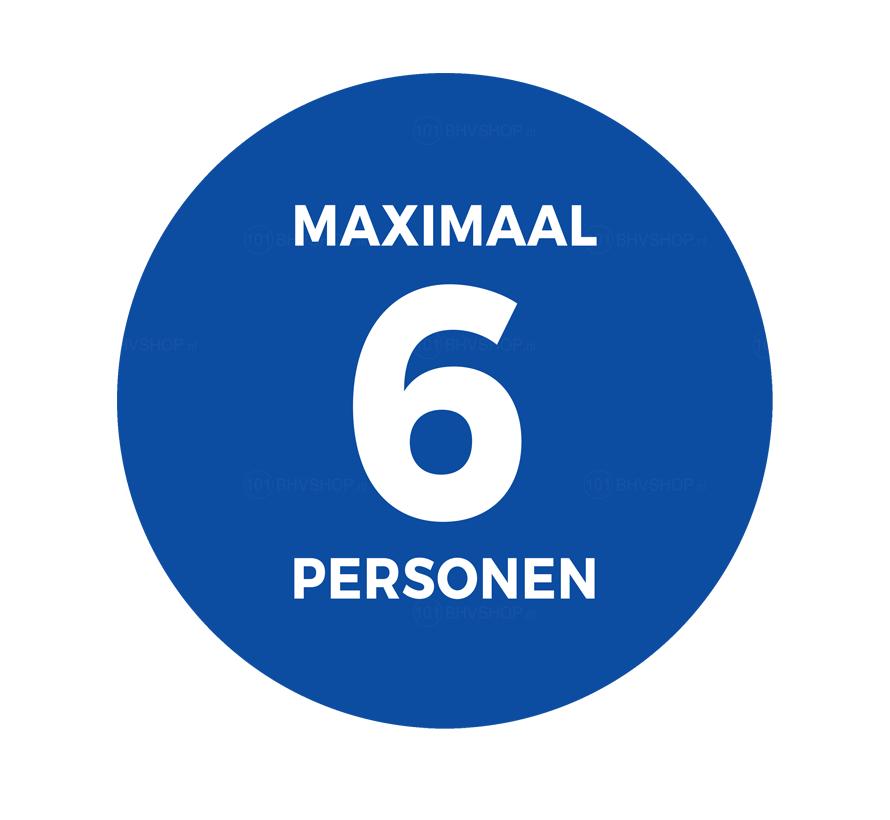 Maximaal aantal personen sticker Ø20 cm