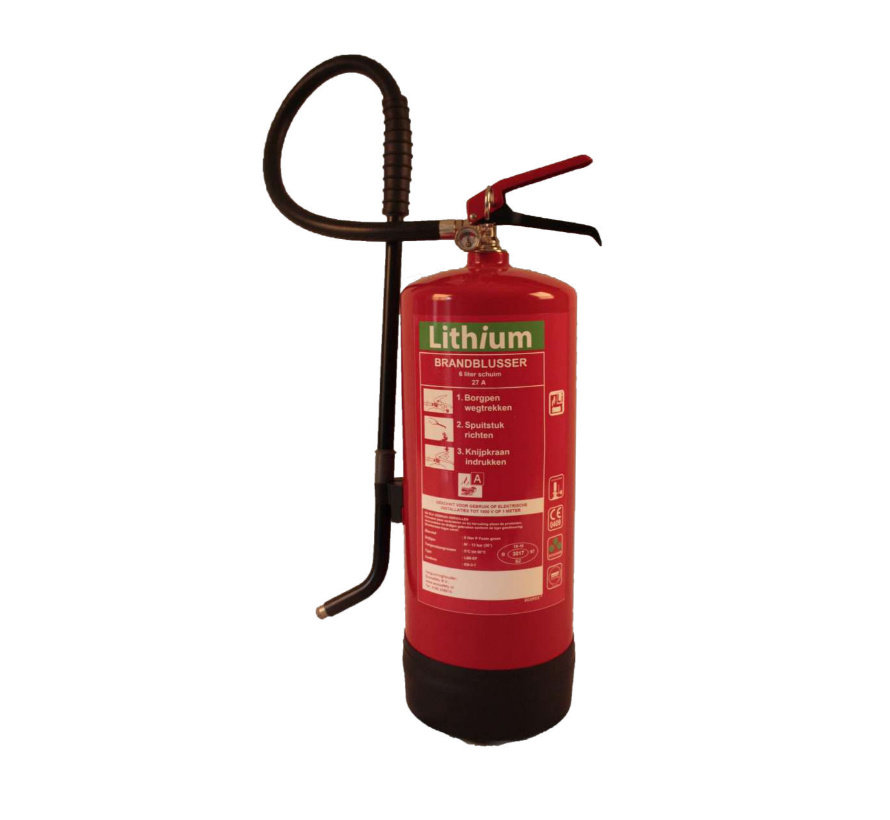 Lithium accu brandblusser 6 liter