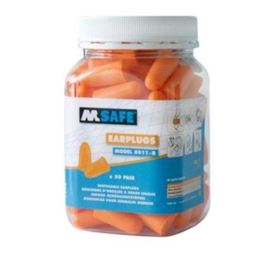 M-Safe 8011-R oranje oordopjes 50 stuks