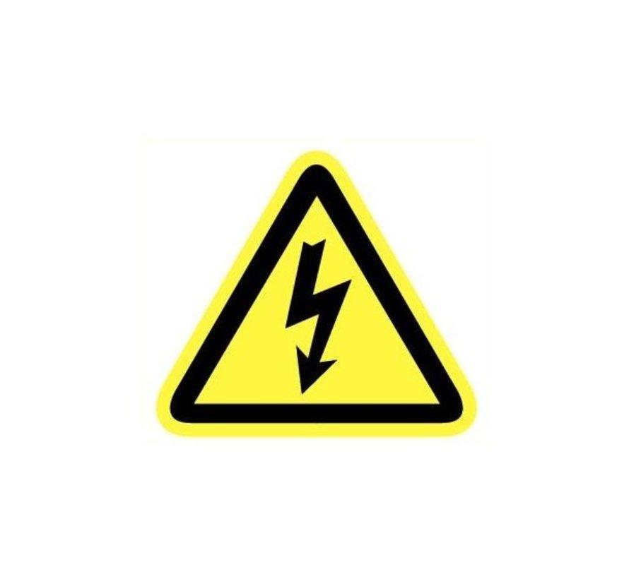 Pictogram elektrische spanning 9 cm