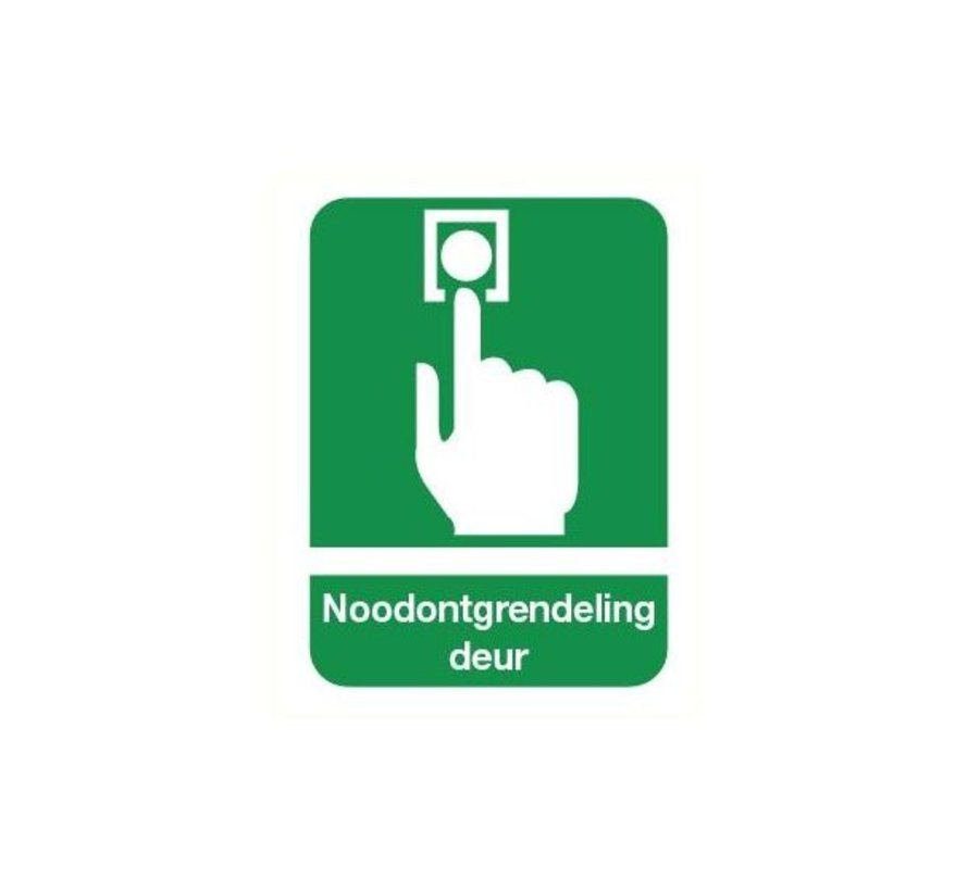 Noodknop deur sticker