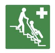 Pikt-o-Norm Evacuatiestoel sticker
