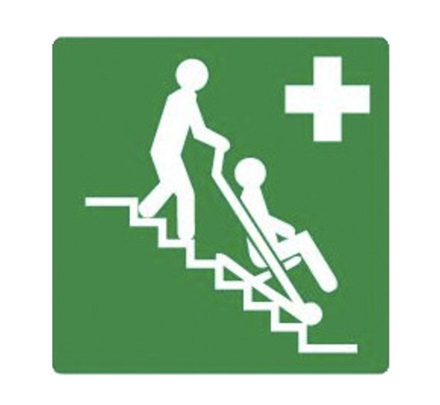 Evacuatiestoel sticker