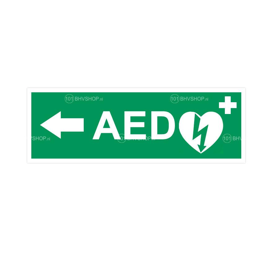 AED pictogram met pijl