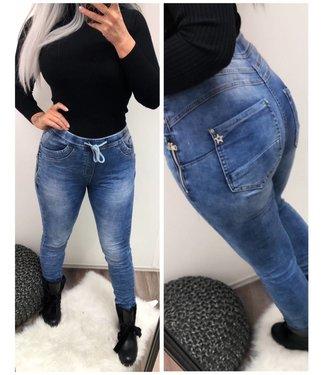 Jeans KAROSTAR met elastische band