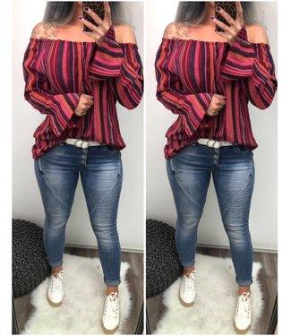 Blouse Color stripe - ONESIZE