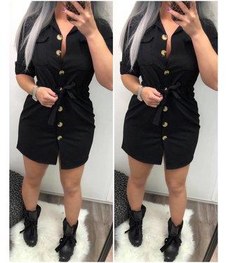 Dress Button Stretch Black - ONESIZE