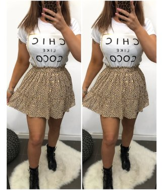 Beige skirt with gold
