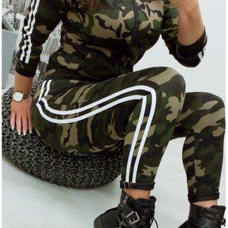 Army stripe White 2-delig pak