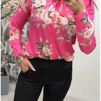 Blouse Flower Pink - Onesize