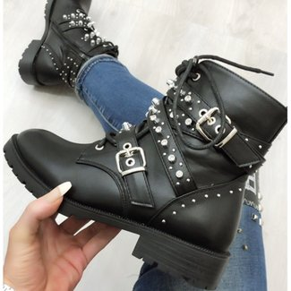 Boots Strass Black