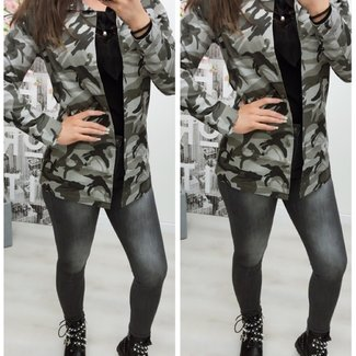 Army print jacket Grey